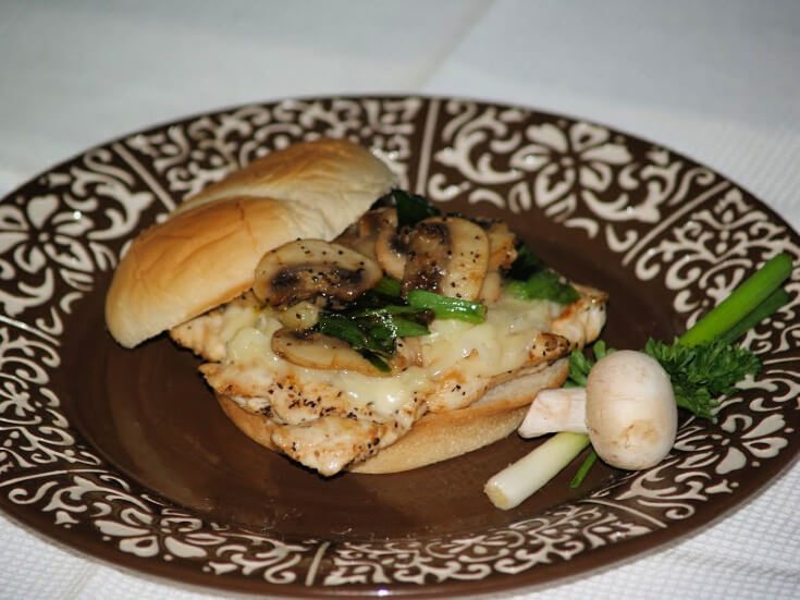 Mushroom Chicken Sandwich