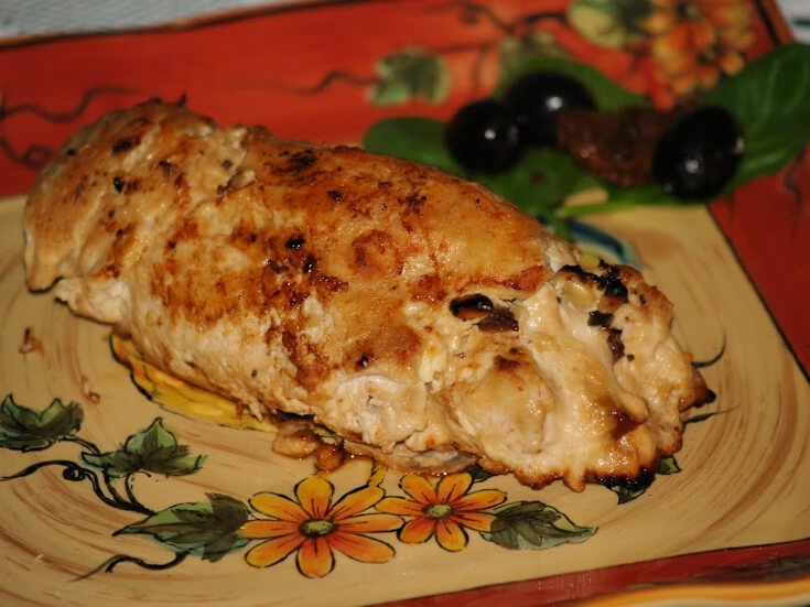 Italian Stuffed Chicken Rolls