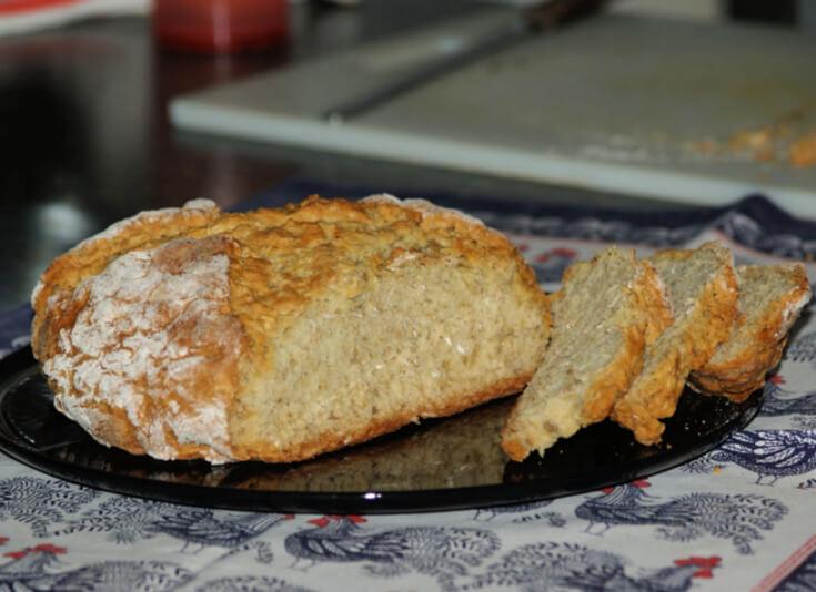 Easy Irish Crusty Oat Bread