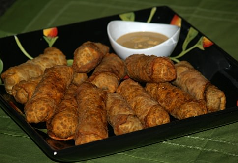 Egg Rolls and Mustard Sauce