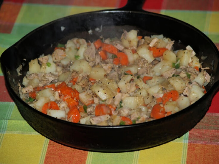 Cooking Pork Hash