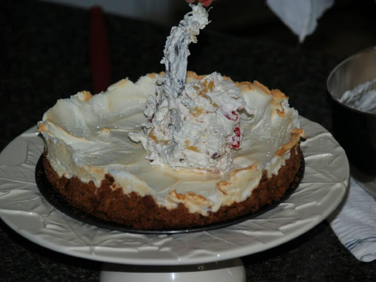 Fill Baked Meringue and Fill with Whipped Cream Topping