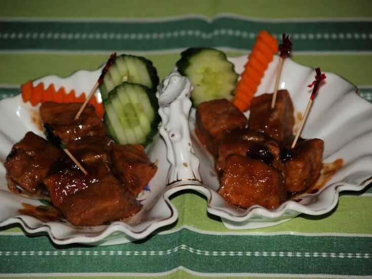 Barbeque Pork Chunk Appetizers