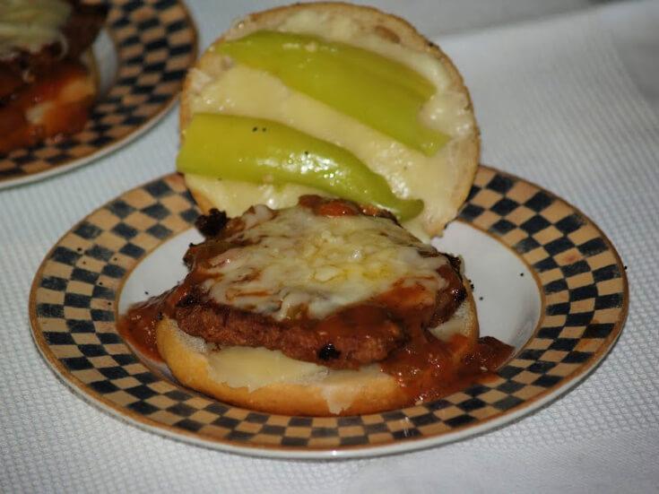Boneless Pork Chop Parmesan Sandwich