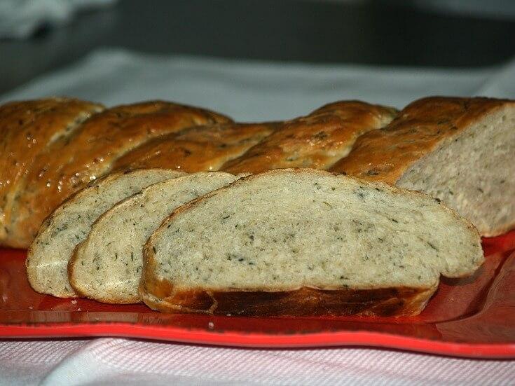 Sliced Zucchini Yeast Bread Recipe in a Long Loaf Twist