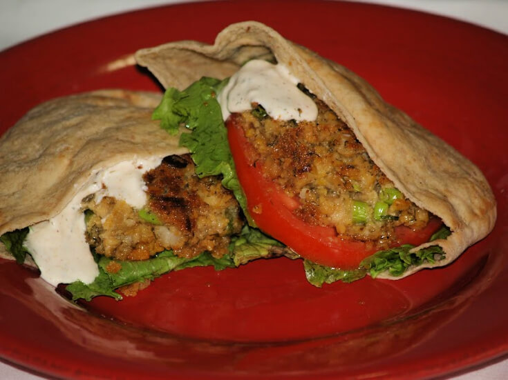 Dill Chickpea Burgers