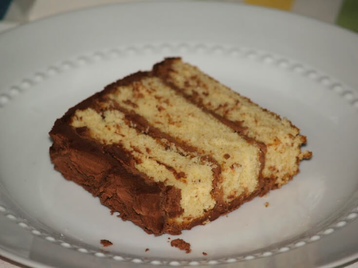 Three Layer Yellow Cake Recipe with Chocolate Butter Frosting