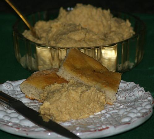 Hummus Served with Flatbread