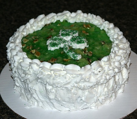 Jello Cake Decorated for St Patricks Day