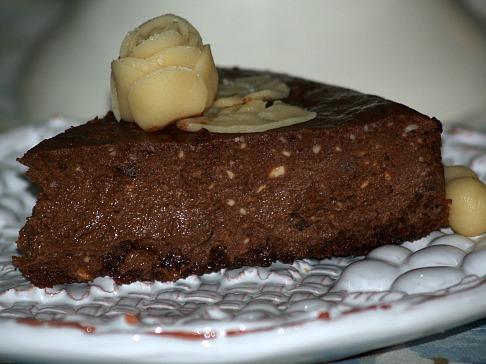 Italian Rich Chocolate Amaretto Cheesecake