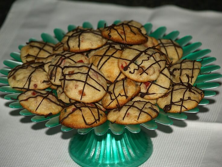 Cottage Cheese Cookies with Candied Fruit