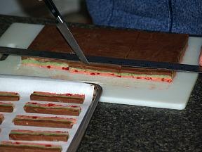 Cutting Spumoni Bars