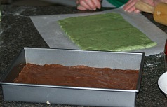 Italian Spumoni Bars Nut Layer