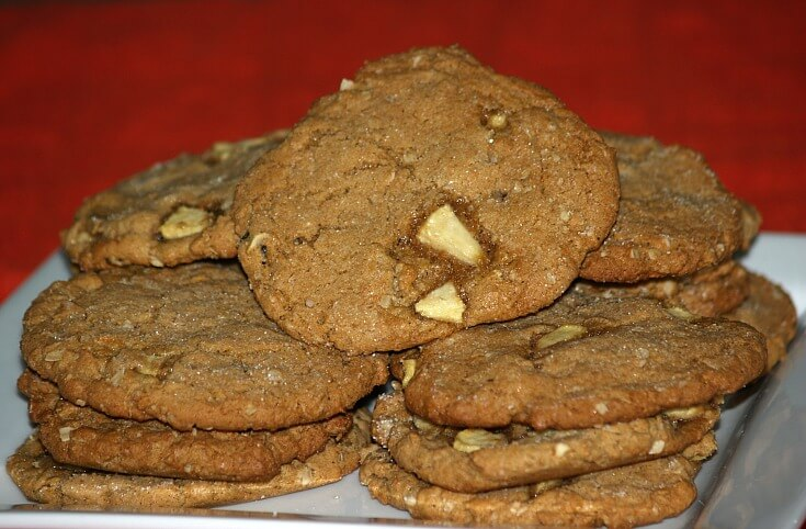 Jumbo Peanut Butter Apple Cookies