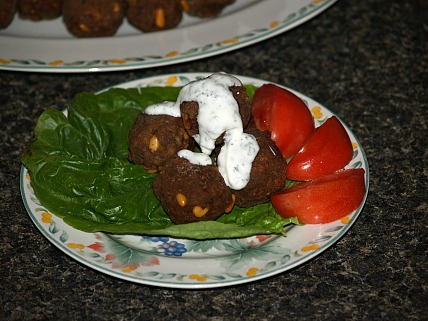 Lamb Meatballs with Mint Sauce