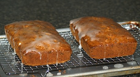 Two Lemon Zucchini Breads with a Lemon Glaze