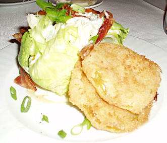 Lettuce Wedge served with Fried Green Tomatoes