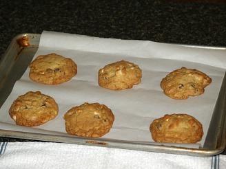 double chocolate macadamia nut cookies