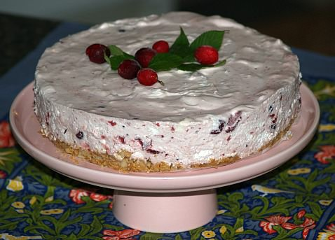How to Make Cranberry Cheesecake Recipe like this Marshmallow Cheesecake