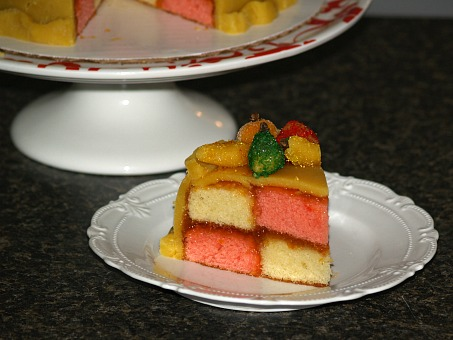 A Piece of Marzipan Covered Cake