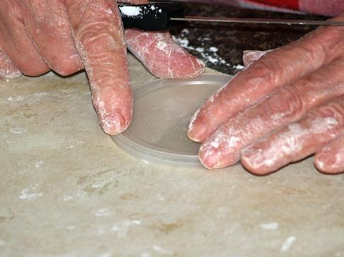 Measuring Cannoli Dough