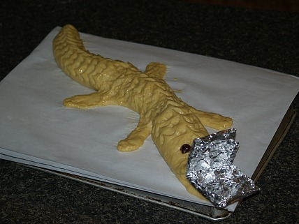 mexican bread shaped like an alligator