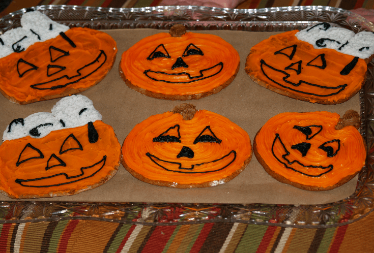 Molasses Jack O Lantern Cookies