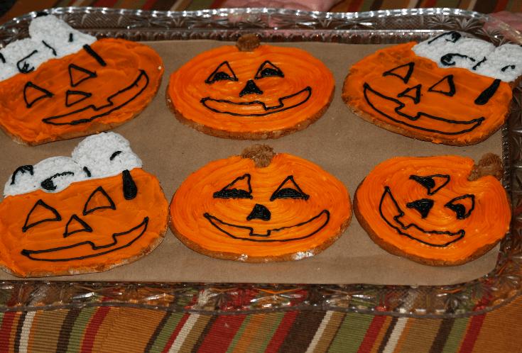 Molasses Jack O Lantern Cookies