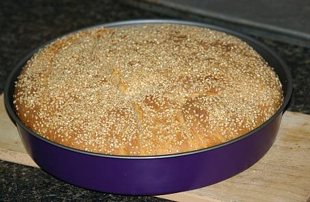 Pan bread recipe for Muffaletta sandwich