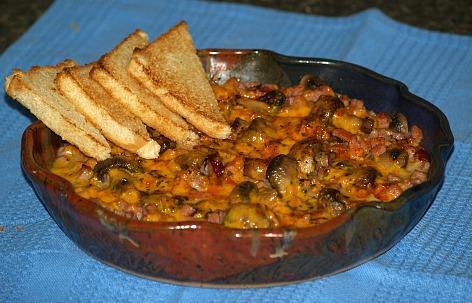 Mushroom and Ham Appetizer