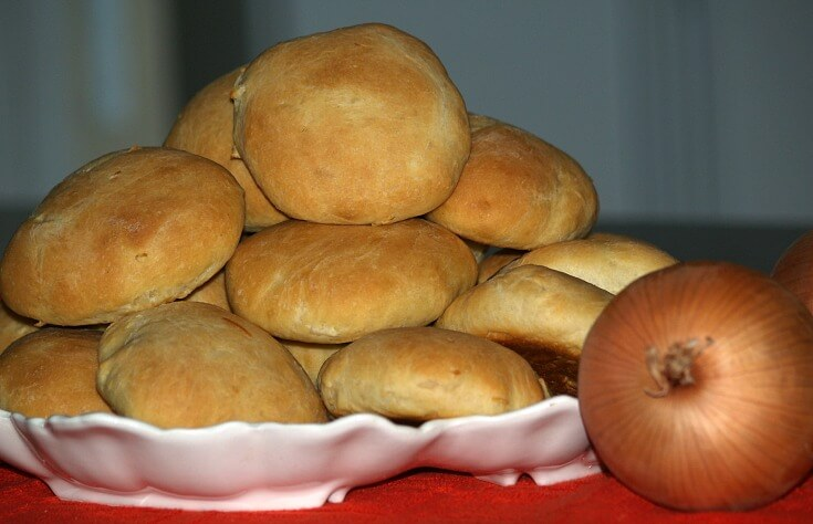 Onion Mustard Sandwich Buns