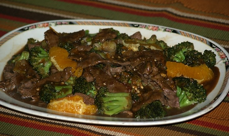 Beef and Broccoli Recipe with Oranges