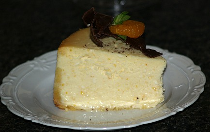 how to make orange cheesecake recipe