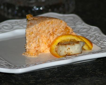 orange macaroon cream dessert