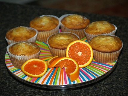 Orange Muffin Recipe with Almonds