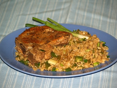 Oriental Pork Chops and Rice