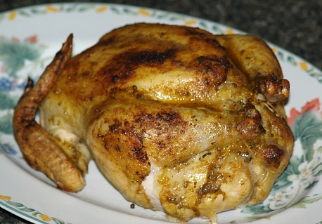 roasted chicken stuffed with apple sausage stuffing