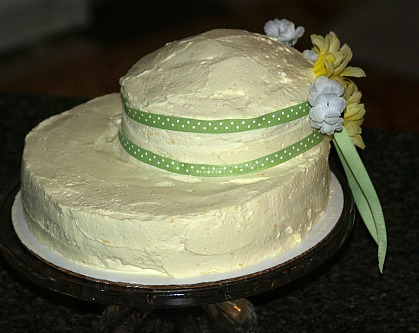 Pecan Cake Recipe Decorated as a Bonnet for Easter