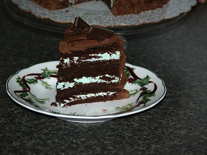 peppermint triple chocolate cake recipe