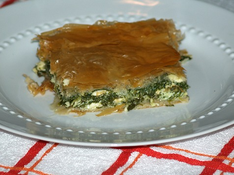 Spinach Pie Recipe or Spanakopita