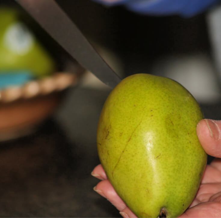 Removing the Core from a Pear