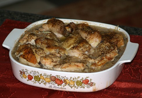 roast polish chicken with sausage and sauerkraut