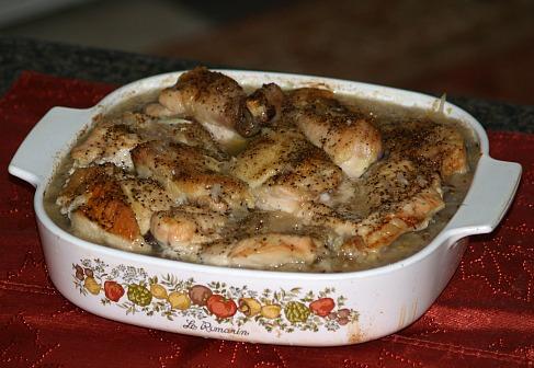 roast polish chicken with sausage and sauerkraut