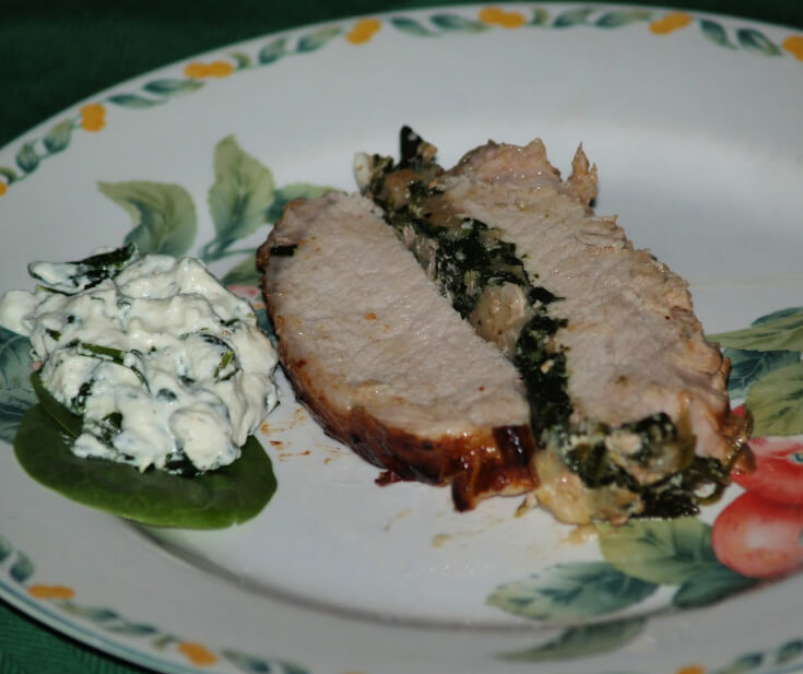 Pork Loin Roast Recipes Stuffed with Spinach Serving