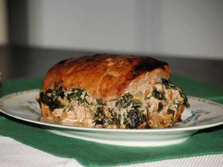 Pork Loin Roast Recipe Stuffed with Spinach