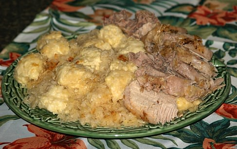 How to Make German Recipe of Pork Roast, Sauerkraut and Dumplings