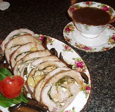 rolled roast pork