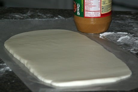 Potato Candy Dough Rolled Out