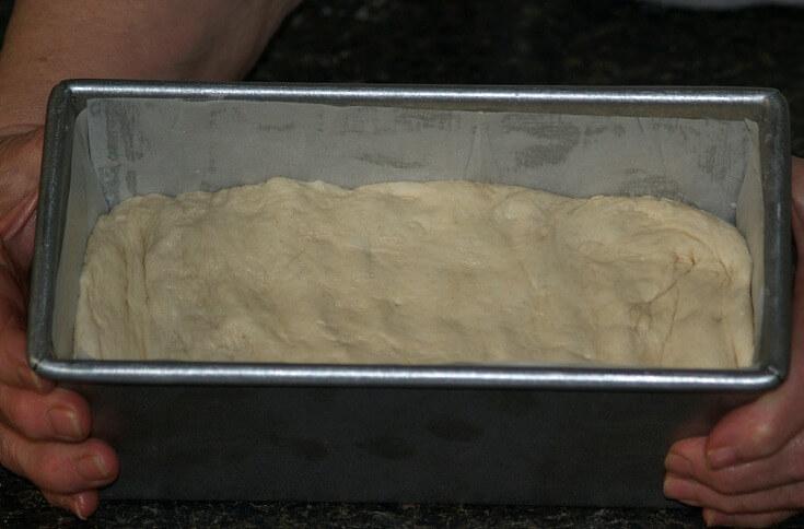 Dough in Pullman Pan