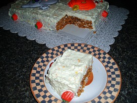 Pumpkin Cake Recipe Cut